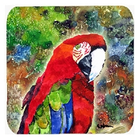 Set of 4 Parrot Foam Coasters