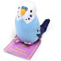 Budgerigar Blue Plush Bird Mascot Clip-on