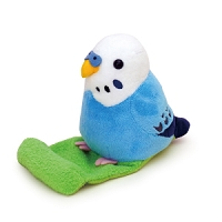 Budgerigar Blue Stuffed Toy Smartphone Stand