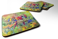 Set of 4 Bird - Parrot Foam Coasters