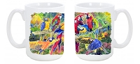 Parrot Dishwasher Safe Microwavable Ceramic Coffee Mug 15 ounce