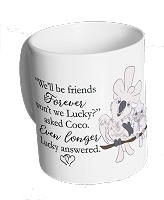 Lucky Lou & Coco Too BEST FRIENDS Mug ~ PRE-SALE~1-2 week wait