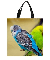Colorful Parakeet Shopping Bag