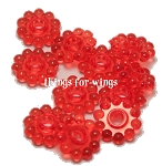 Crimson Mini Ring Beads