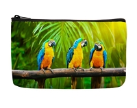 Blue & Gold Macaw Cosmetic Hand Bag