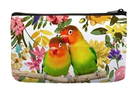 Lovebirds Floral Cosmetic Hand Bag