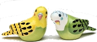 Yellow and Green Parakeet Salt & Pepper Shakers