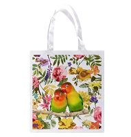 Floral Lovebird Shopping Bag
