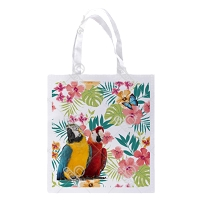 Floral Macaw Shopping Bag