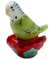 Hibiscus Parakeet Salt & Pepper Shakers