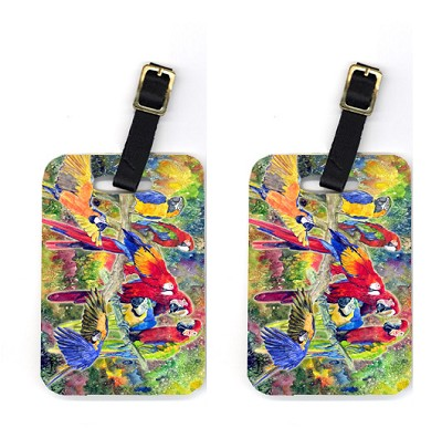 Pair of Parrot Luggage Tags