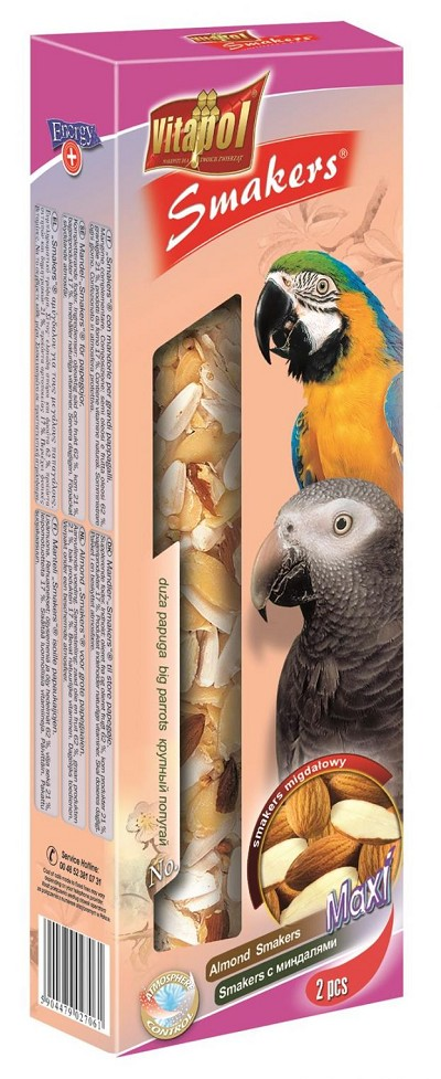 Almond Smakers for Big Parrots (2 Pack) XXL!