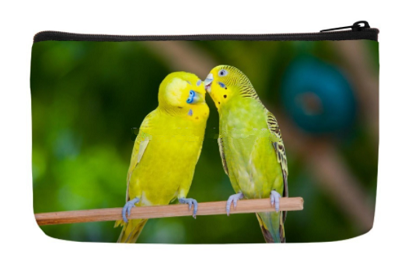 Loving Budgies Cosmetic Hand Bag