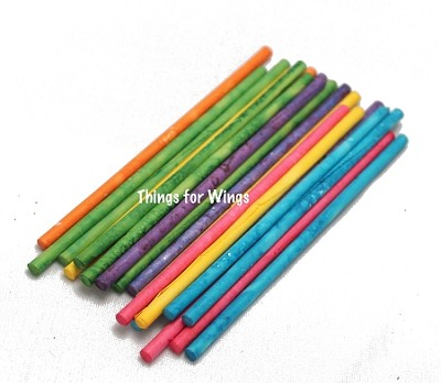 Small Rainbow Paper Sticks
