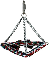 Tri-Chain Cotton Rope Swing Small
