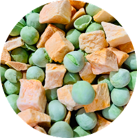Freeze Dried Peas & Carrots