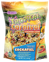 F.M. Browns Tropical Carnival Gourmet Cockatiel, Lovebird, Conure Food 3 lb