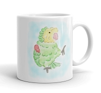 Double Yellow Headed Amazon Parrot Coffee Mug
