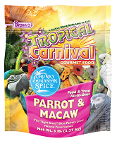 F.M. Browns Tropical Carnival Gourmet Chunky Caribbean Spice Parrot & Macaw Food Food 5 lb