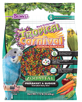 Tropical Carnival® ZOO•VITAL® Rice-Based Parakeet Budgie Pellets 1.5 lb