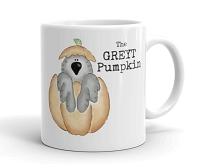 Halloween & Fall Mug ~ The GREYT Pumpkin ~ African Grey