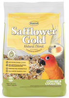 Higgins Safflower Gold Conure & Cockatiel Fortified Seed Mix 3 lbs