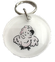 Round Acrylic Parrot Key Chain Cockatoo