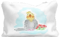 Cockatiel Canvas Zippered Pouch Large