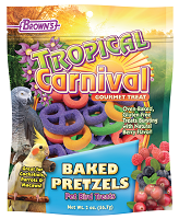 F.M. Browns Tropical Carnival® Baked Pretzels All Sized Pet Bird Treats 2 oz