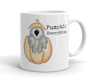 Halloween & Fall Mug ~ Pumpkin Everything ~ African Grey