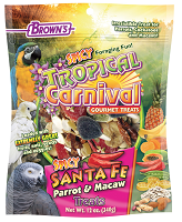 F.M. Browns Tropical Carnival® Spicy Santa Fe™ Large Parrot Treats 12 oz
