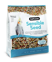 Zupreem Sensible Seed Medium 2 lbs Cockatiels, Quakers, Lovebirds, Small Conures