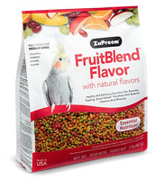 Zupreem Fruit Blend Medium Birds Cockatiels, Quakers, Lovebirds, Small Conures 2 lb