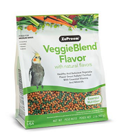 Zupreem Veggie Blend Medium 2 lbs Cockatiels, Quakers, Lovebirds, Small Conures