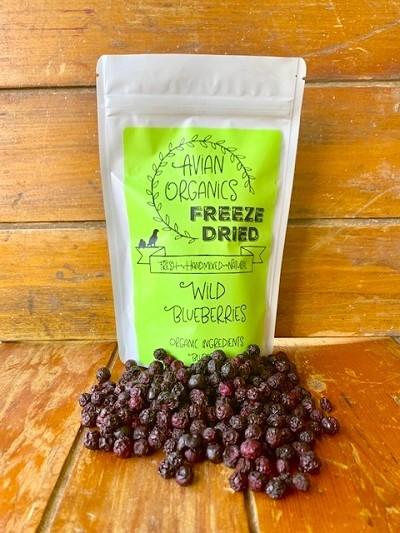 Freeze Dried Organic Wild Blueberries
