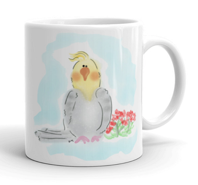 Cockatiel 11 oz Mugs and Water Bottles