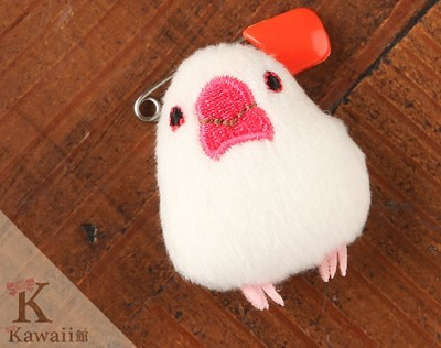 Paddy Bird Plush Toy Badge Pin
