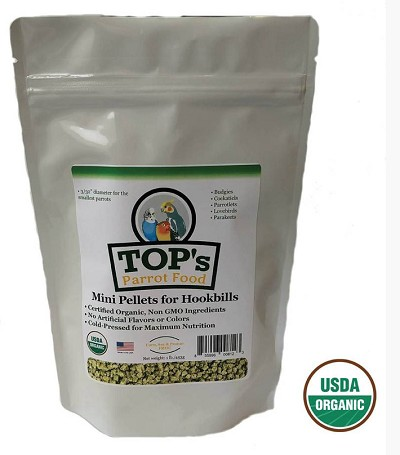 TOPS Organic Mini Pellets 1 lb New Pellet Size!